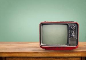 Retro red television